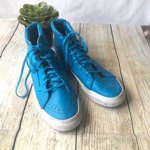 Vans Sk8-Hi Slim Neon Leather High-Top Women 6